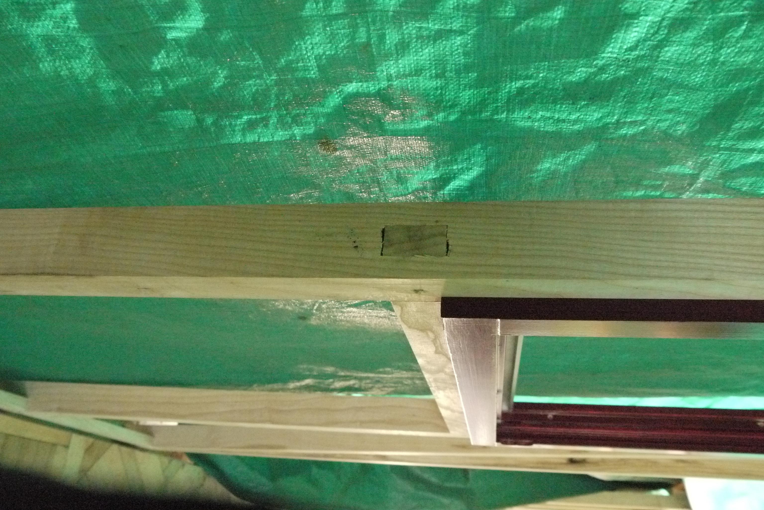 Pfosten-Riegel, Detail mit Fenster